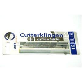 LUTZ BLADES Abbrechklinge black 9mm Pack a 10 Stück LUTZ BLADES Cutter-Klinge Kl