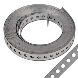 1 Rolle Lochband Edelstahl 17mm x 10m